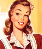 vintage housewife HEAD shot